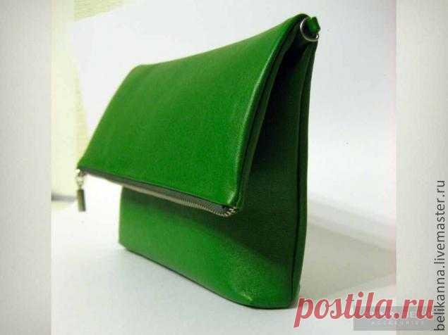 540858053 Шьем сумку-клатч из кожи Этот мастер-класс расказывает о всех этапах  создания сумки