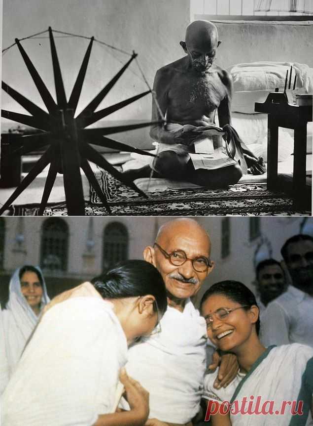 """2 октября 1869 г. - родился индийский государственный и политический деятель, философ Махатма Ганди (имя при рождении - Мохандас Карамчанд Ганди). Философия Ганди и аскетический образ жизни снискали ему всенародную любовь и почитание. Так появилось ещё одно имя Ганди – Махатма, что означает """"Великая Душа""""."""