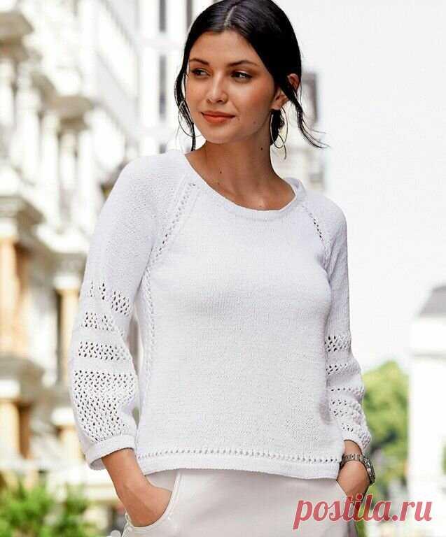 """Джемпер, пуловер, модели спицами/двойная планка, реглан, ажурные узоры/описание+схемы.   Вязание """"Мир узоров""""   Яндекс Дзен"""