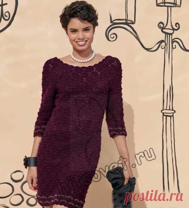 95098c234ab Красивое вязаное платье крючком