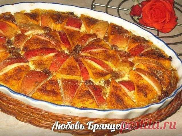 Яркое и вкусное угощение – Запеченная тыква с яблоками и корицей!
