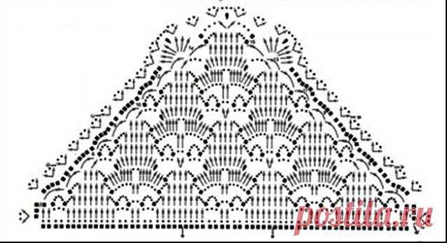 шаль платок крючком платки шали крючком схемы домоводство для