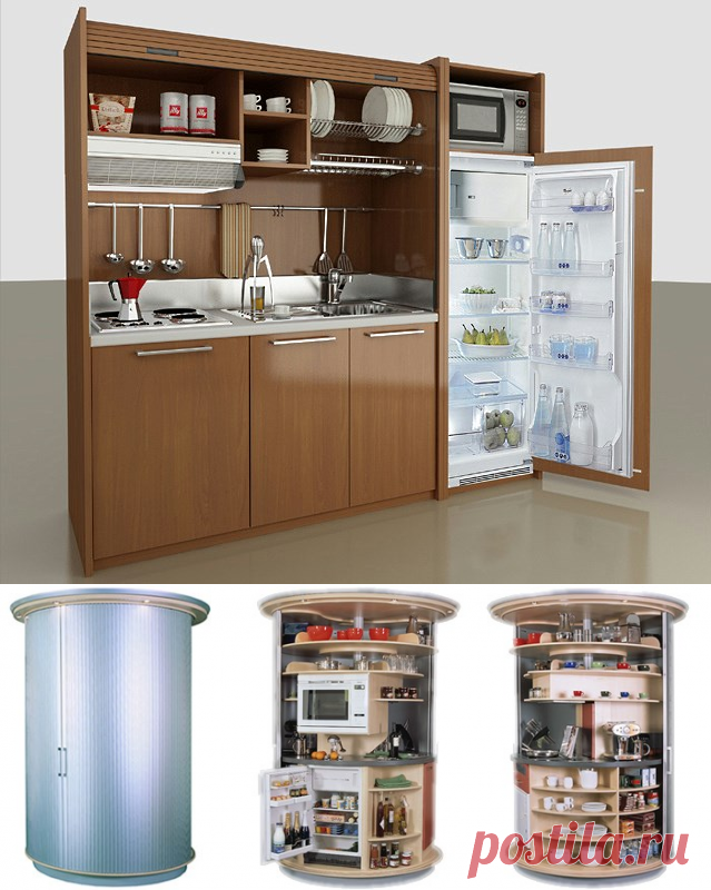 Мини-кухни для офиса и малогабаритной квартиры