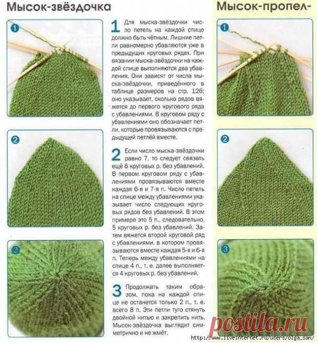 Как вязать мыски варежек и носков