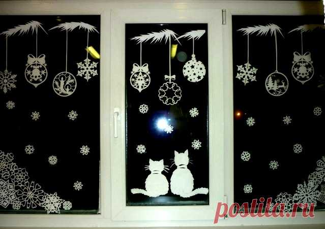 Вырезалочки для окон: звери и птицы   Эти трфареты помогут вам красиво, по-новогоднему, украсить окна и зеркала зимой!                             Далее смотрите в Источнике...