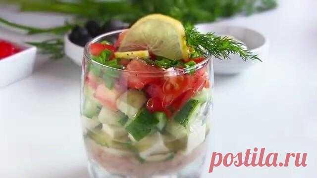 Салат с тунцом помидорами огурцами сыром слоеный рецепт с фото пошагово - 1000.menu