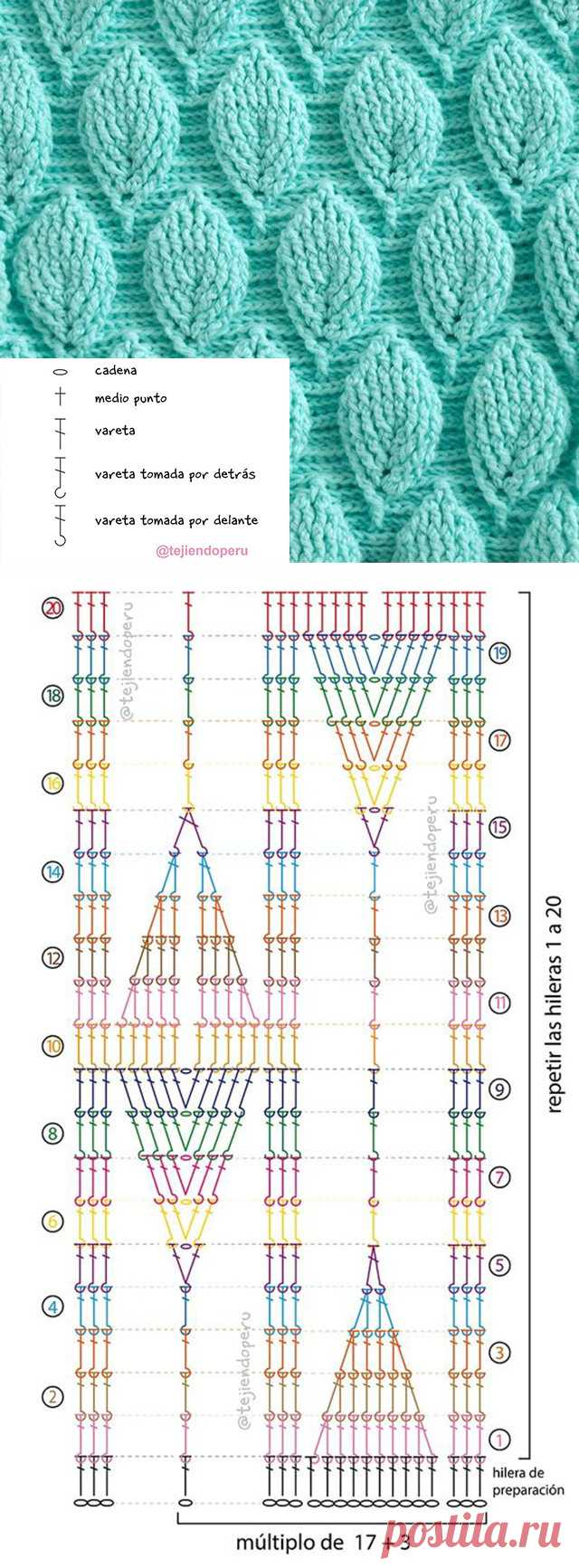 Easy Crochet Leaf Stitch Pattern | CrochetBeja