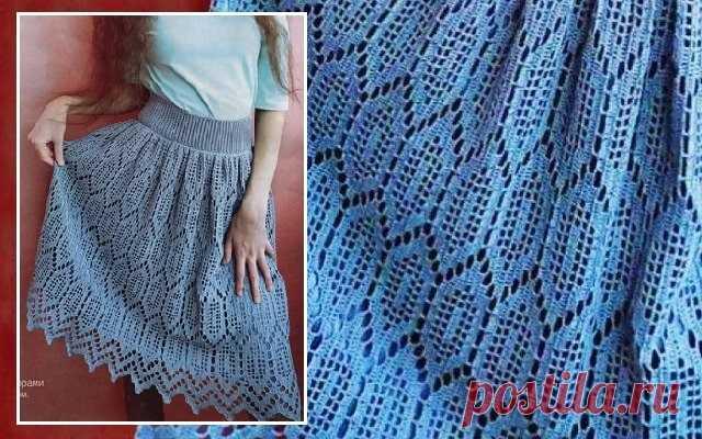 Ажурная юбка, связанная в технике филейного вязания | крючок