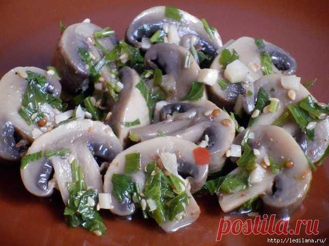 Los champiñones marinados en coreano