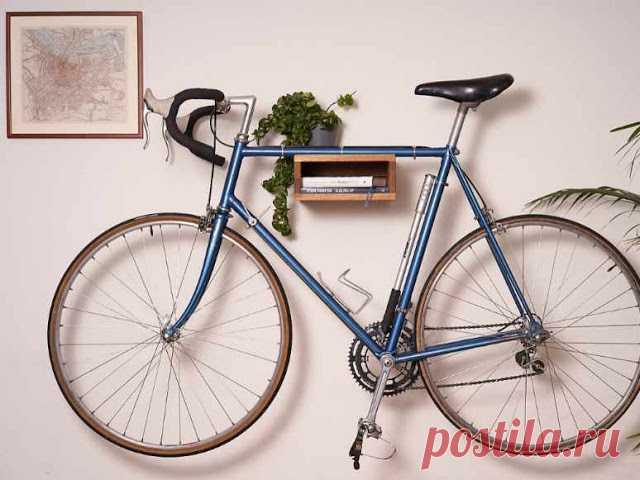 Как хранить велосипед в квартире: простое приспособление
