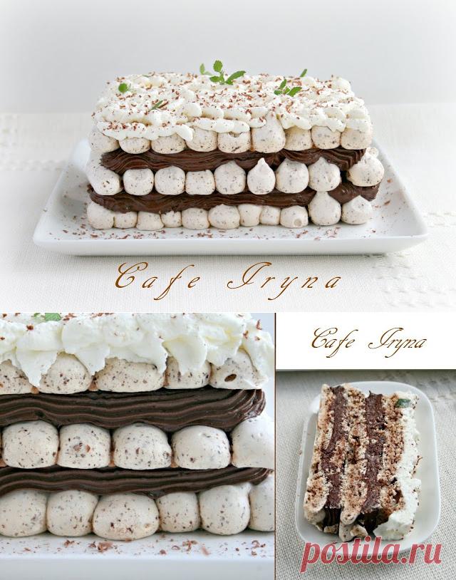 Сafe Iryna: Мятно-шоколадный торт-десерт с парижским кремом.
