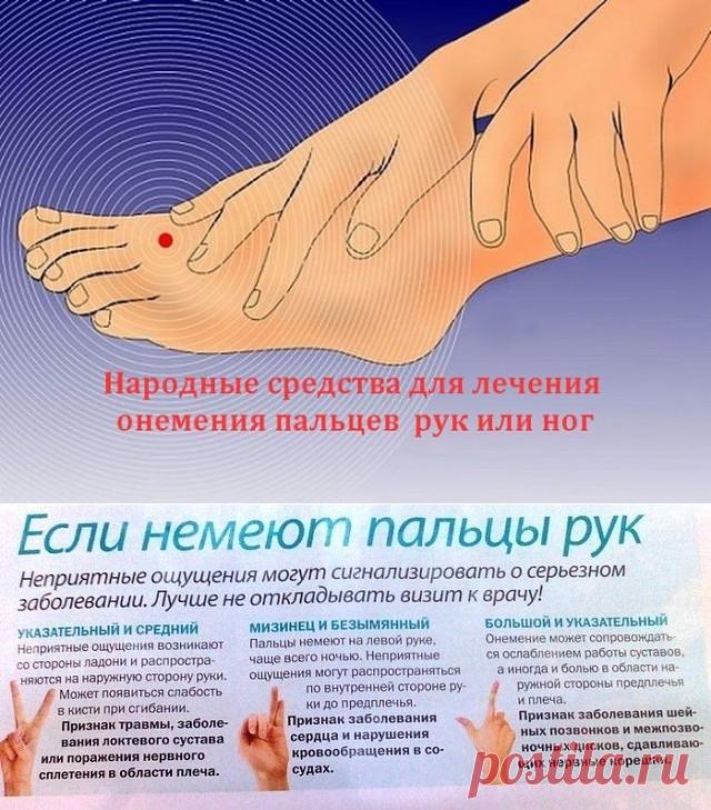 онемение рук, ног и путанная речь