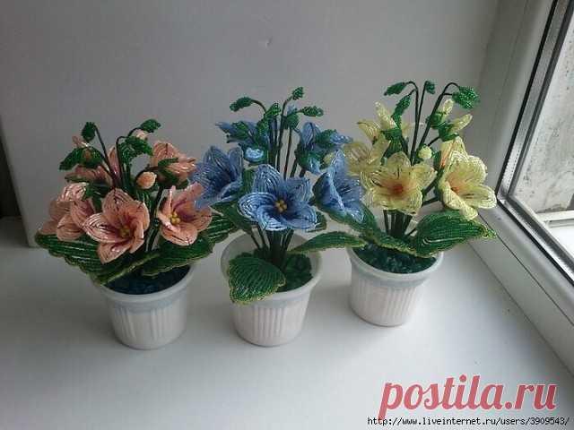 Прекрасные цветы из бисера — Сделай сам, идеи для творчества - DIY Ideas