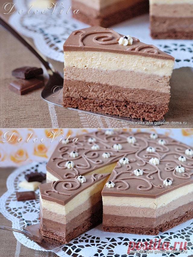 """""""Три шоколада"""" cake mousse; from Luka Montersino"""