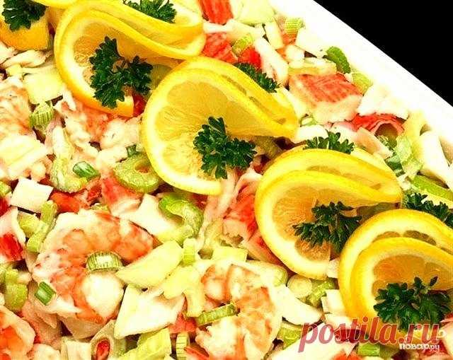 Салат с креветками и сельдереем Сельдерей имеет специфический вкус, который не все любят. Но даже самым яростным противникам этого овоща должен понравится рецепт приготовления салата с креветками и сельдереем - это настолько вкусно,…