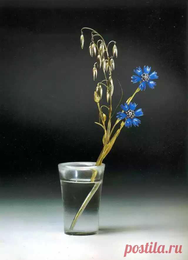 Шедевры искусства: Карл Фаберже и его каменные цветы в хрустальной воде - Красивые люди