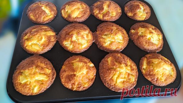 Ароматные кексы с яблоками – пошаговый рецепт с фотографиями
