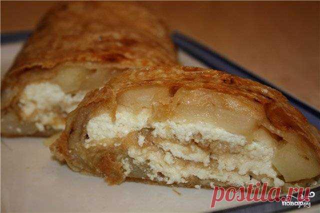 Лаваш с яблоками и творогом - пошаговый рецепт с фото на Повар.ру