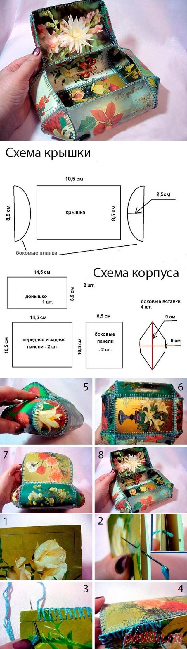 Ходьба картинки, как сделать шкатулку из открыток схема