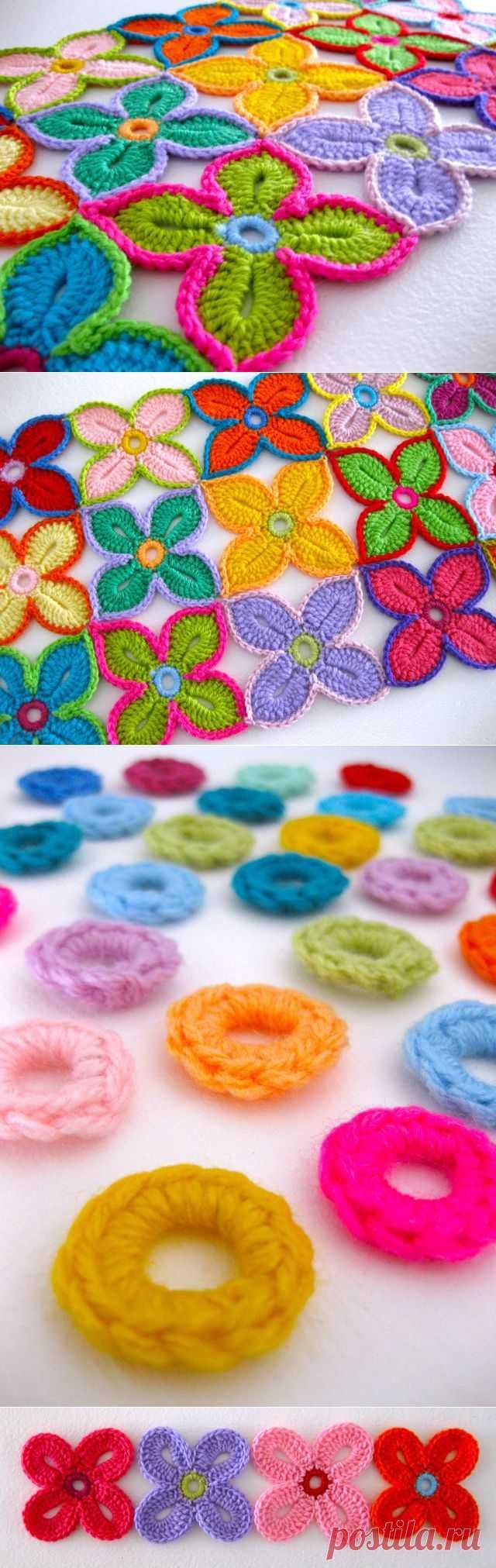 Гавайский цветок крючком: мастер-класс | Мои Петельки