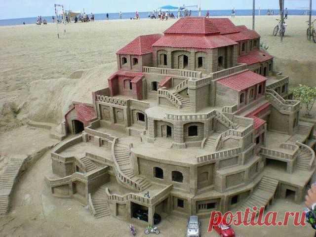 Замок  из  песка  супер...