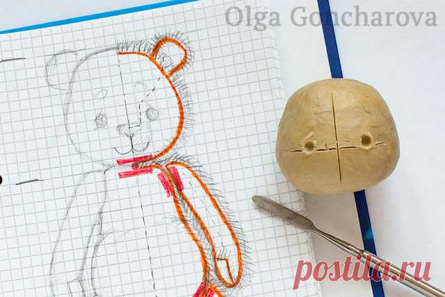 Creations by Olga Goncharova: Мастер-класс: Выкройка мишки тедди с нуля / How to make a teddy bear pattern from scratch