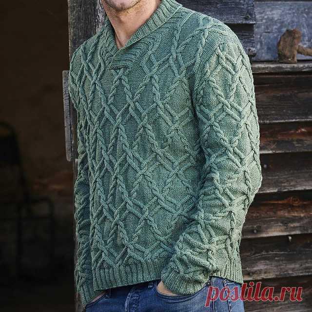 Мужской пуловер Diarmuid с воротником шалькой от Lisa Richardson
