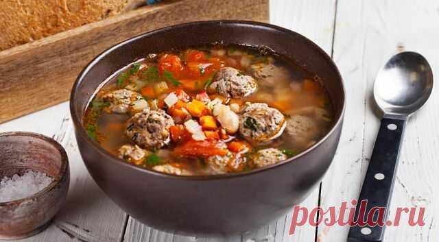 Вкусный суп с фрикадельками и фасолью — СОВЕТ !!!