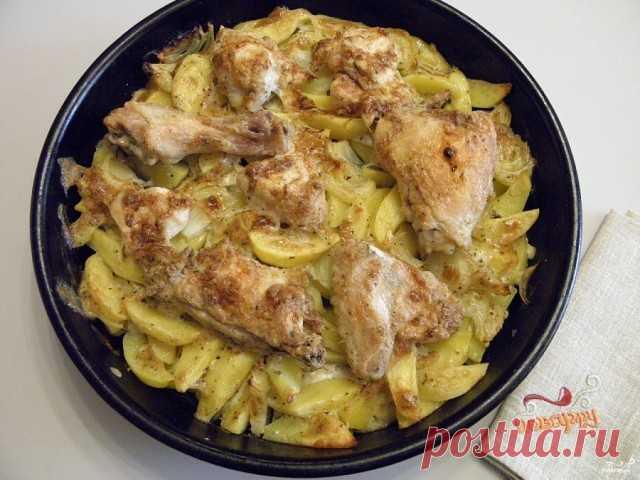 Картошка с курицей в духовке под соусом | OK.RU