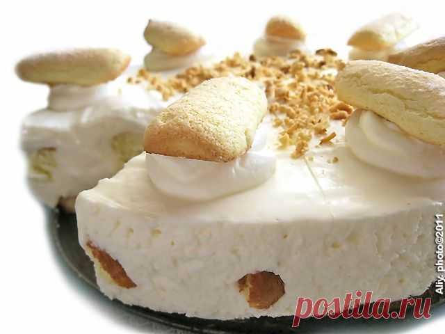 294. Бисквитно-сливочный торт