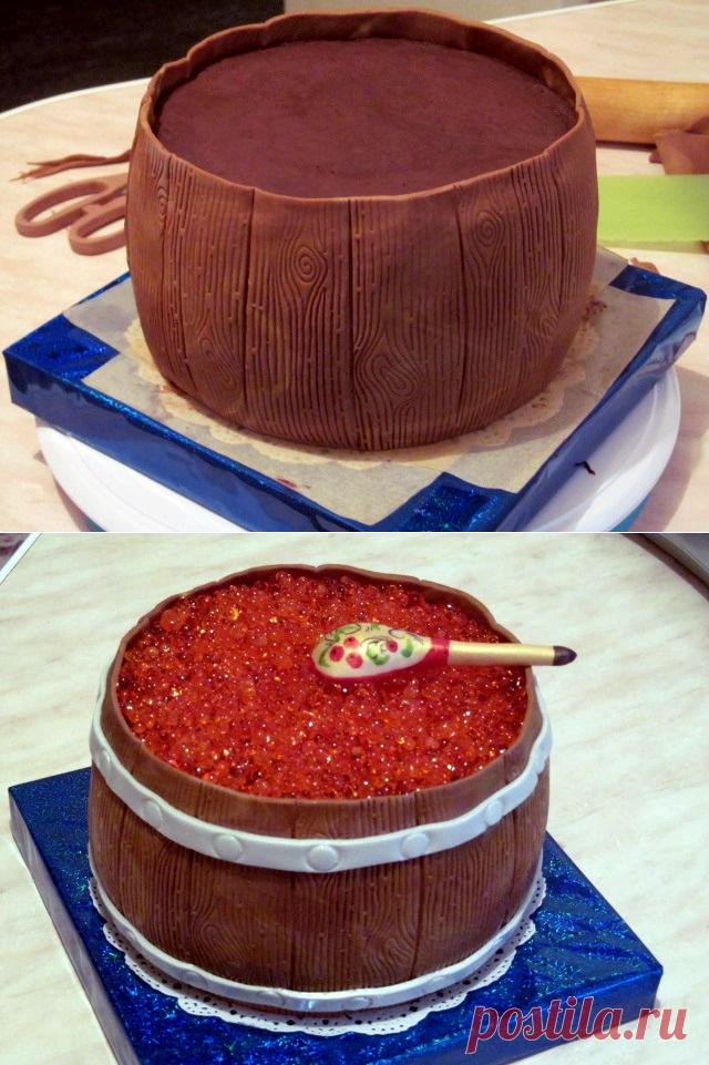 Торт Бочка с икрой - Мастер-классы по украшению тортов - Мастер-классы - d2d056d83c0