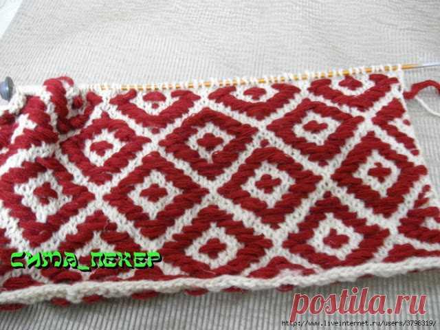 Имитация гобеленовой вышивки. Мини мастер класс  Есть в вышивании такая техника-ЛОНГСТИЧ.Это стежки в горизонтальном и вертикальном направлении,один из видов гобеленовой вышивки.  Этот способ можно применить и в вязании.Я давно знакома с ним и даж…