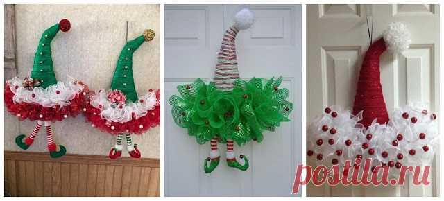 Wykonaj łatwe Ozdoby świąteczne Aby Udekorować Swoje Drzwi