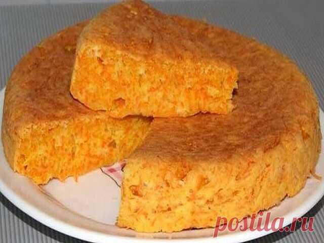 Нежнейший пирог-десерт из манки и морковки - просто тает во рту!!! Пирог-десерт