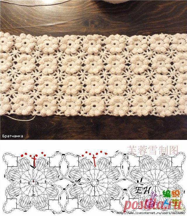 узоры безотрывного вязания крючком