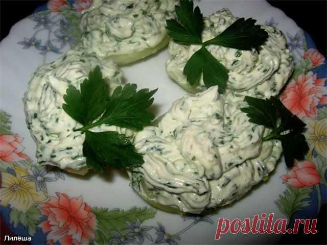 Картофель с творожным кремом