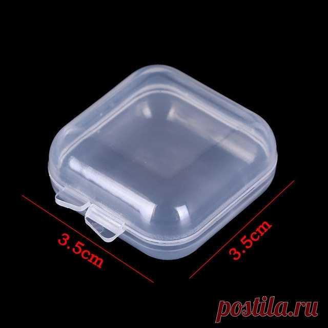 Пластиковый прозрачный ящик для хранения ювелирных изделий, контейнер для бисера, рыболовные инструменты, аксессуары, ящик для мелких предметов, чехол для органайзера|Коробки и ящики для хранения| | АлиЭкспресс