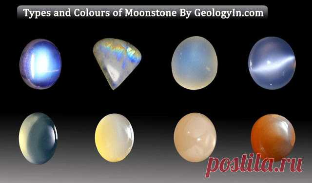 Different Types and Colours of Moonstone