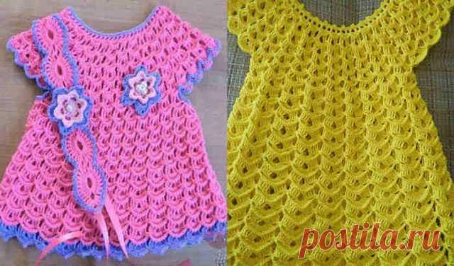 Как связать крючком платья Зефирка детское и взрослое – схемы вязания и мастер-классы на видео