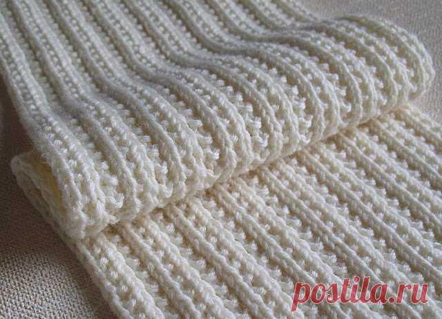 двухсторонние узоры спицами для шарфов снудов двухсторонний узо