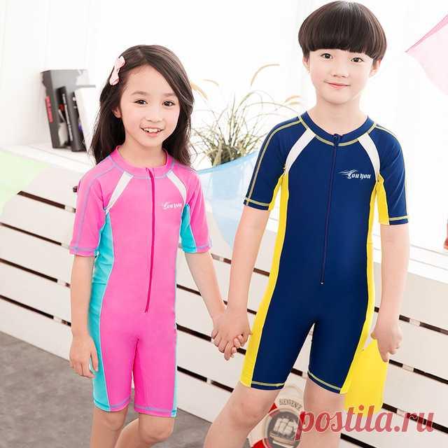 Детский купальный костюм с UF защитой 50+ | Aliexpress | КупиОбзор