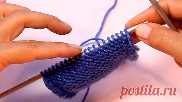Сравнение двух способов вязания изнаночной петли - knitting-pro.ru - От азов к мастерству