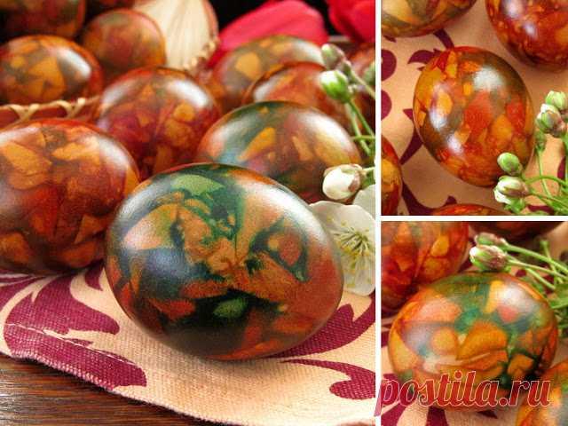 """Постигая искусство кулинарии... : Пасхальные яйца крашеные """"Мраморные"""""""