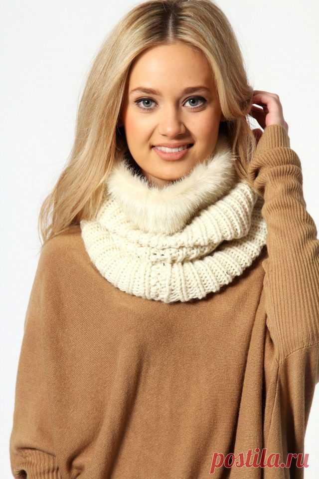 Шарф снуд – круговой шарф-хомут рекомендации