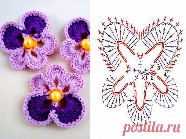 вязаные цветы крючком схемы для начинающих вязание цветов с