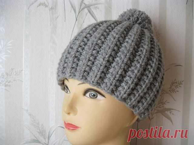 шапочка французской резинкой вязание спицами журнал вдохновение