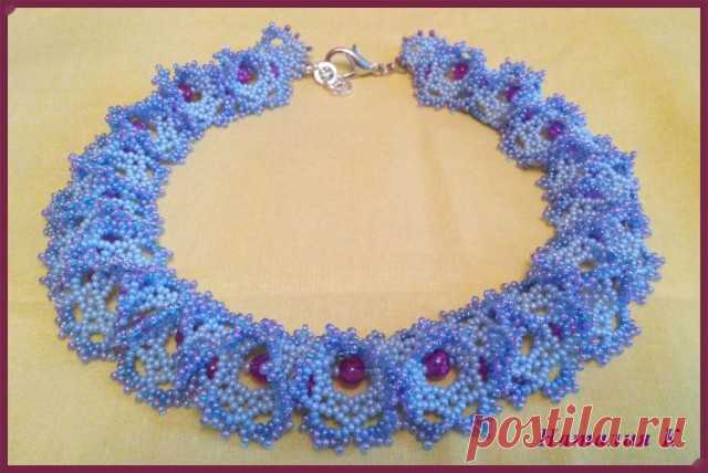 """Openwork necklace from beads """"Огалала"""""""