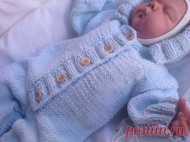 Вязаный комбинезон для новорожденного схема фото 687