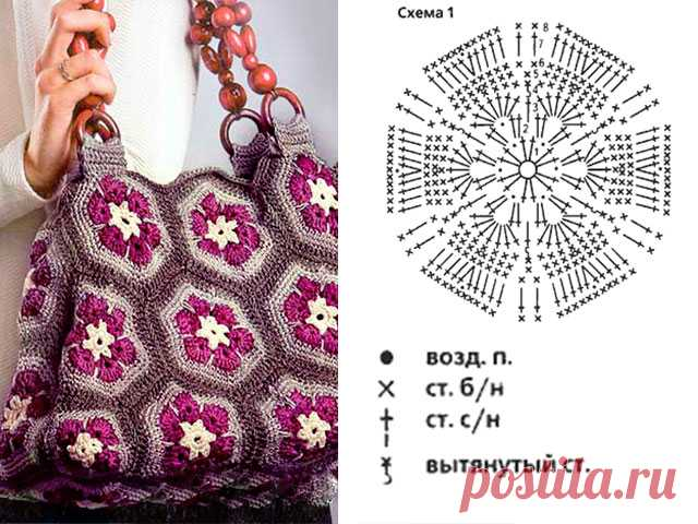 Сумка крючком как связать схемы вязания