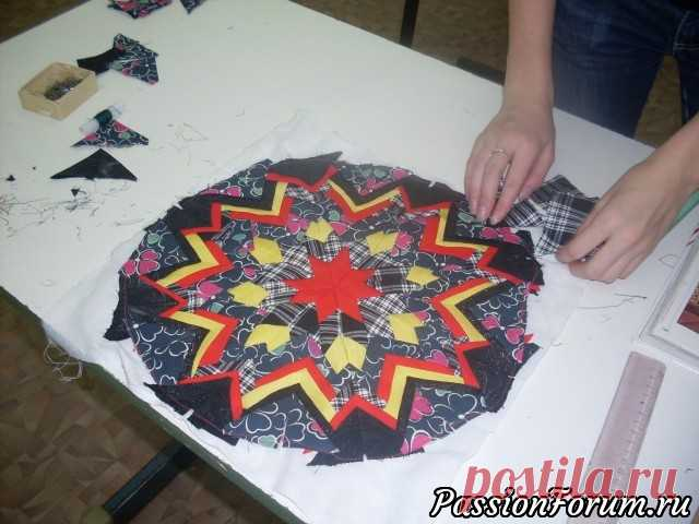 Лоскутное шитье в технике Артишок